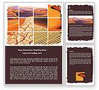 Nature & Environment: Desert Word Template #05901