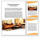 Careers/Industry: Living Room Word Template #05906
