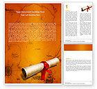 Careers/Industry: Treasure Map Word Template #05910
