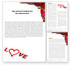 Holiday/Special Occasion: Love Word Template #05912