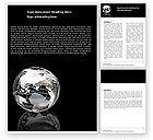 Global: Silver Globe Word Template #05921