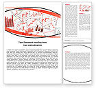 Financial/Accounting: Stock Market Histograms Word Template #05924
