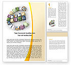 Financial/Accounting: Euro Investing Word Template #05925