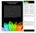 Religious/Spiritual: Seven Color Flower Word Template #05929