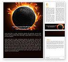 Nature & Environment: Solar Eclipse Word Template #05932