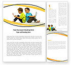 Education & Training: Boys Word Template #05938