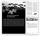 Consulting: Silver Puzzle Word Template #05940