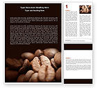 Food & Beverage: Coffee Beans In Brown Color Word Template #05941
