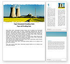 Utilities/Industrial: Atomic Power Plant Word Template #05946
