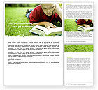 Education & Training: Reading On Summer Vacations Word Template #05977
