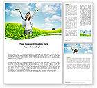 People: Sunshine Girl Word Template #05989