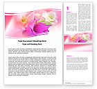 Holiday/Special Occasion: Summer Flowers Word Template #05990