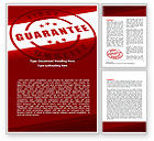 Business Concepts: Quality Seal Word Template #05994