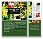 Nature & Environment: Yellow Flowers Word Template #05995