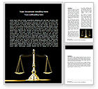 Legal: Justice Symbol Word Template #05997