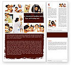 People: Happy Family Portrait Word Template #06006