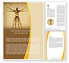 Medical: Vitruvian Man Word Template #06014