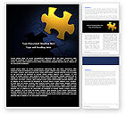 Consulting: Yellow Puzzle Word Template #06022