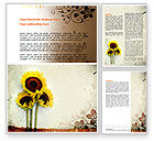 Nature & Environment: Blooming Sunflowers Word Template #06026