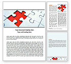 Consulting: Last Red Piece to Complete Puzzle Word Template #06039