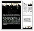 Careers/Industry: Cafe Word Template #06044