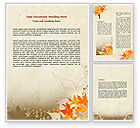 Abstract/Textures: Autumn Pattern Word Template #06045