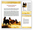 America: Life On Ranch Word Template #06046