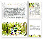 People: Mother with Daughters Word Template #06047