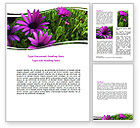 Nature & Environment: Violet Flowers Word Template #06051