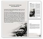 Cars/Transportation: Plantilla de Word - embotellamiento #06066