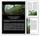 Nature & Environment: Deep Woods Word Template #06077