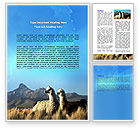 Agriculture and Animals: Llama Word Template #06079