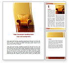 Business Concepts: Modern Armchair Word Template #06110