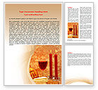 Holiday/Special Occasion: Candles and Wine Word Template #06112