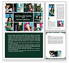 Education & Training: School Studying Word Template #06114