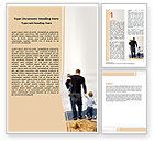 People: Father and Kids Word Template #06118