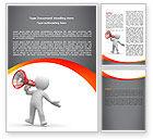 Careers/Industry: Public Speaker Word Template #06124