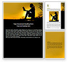 Religious/Spiritual: Sunset Reading Word Template #06136