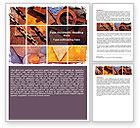 Utilities/Industrial: Rust Word Template #06141