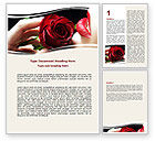 Holiday/Special Occasion: Red Passion Word Template #06144