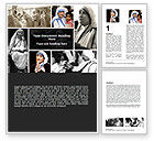 People: Mother Teresa Word Template #06148