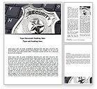 Technology, Science & Computers: Modèle Word de sécurité web #06153