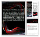 Abstract/Textures: Abstract Red Wave Word Template #06158