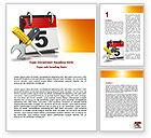 Utilities/Industrial: Building Deadline Word Template #06160