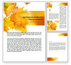 Nature & Environment: Yellow Leaves Of Maple Word Template #06166