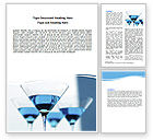 Food & Beverage: Martini Word Template #06183
