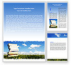 Education & Training: Book Pile Word Template #06195
