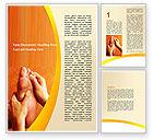 Medical: Feet Massage Word Template #06196