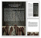 Religious/Spiritual: Poor Children Word Template #06198