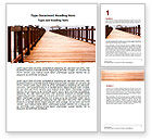Business Concepts: Beach Pier Word Template #06200